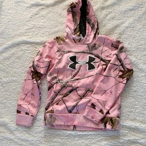 Under Armor Pink Camo Swaetshirt